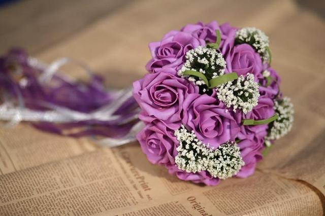 Lãng mạn và ngọt ngào từ hoa hồng tím