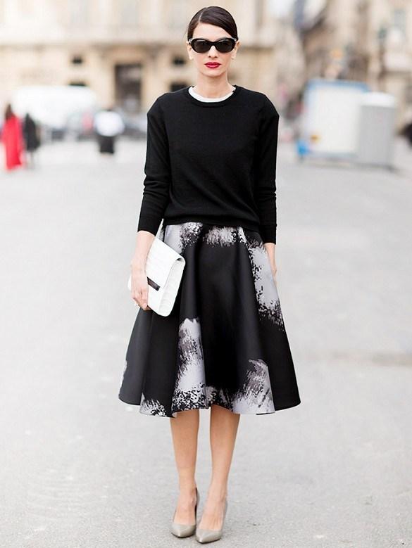 Diện chân váy midi đẹp như tín đồ thời trang thế giới
