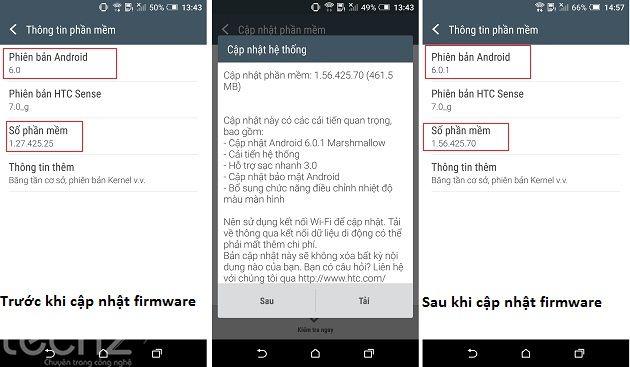 HTC One A9 cập nhật bản firmware mới