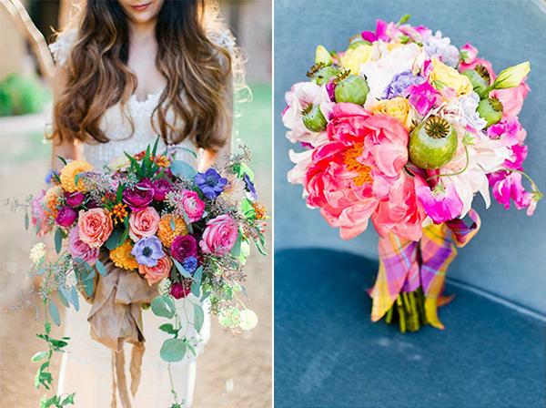 Chọn hoa cưới cầu vồng rỡ ràng mùa xuân