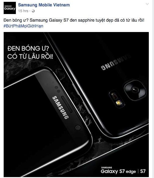 Công ty Samsung Việt Nam trêu chọc iPhone 7 gây tranh luận