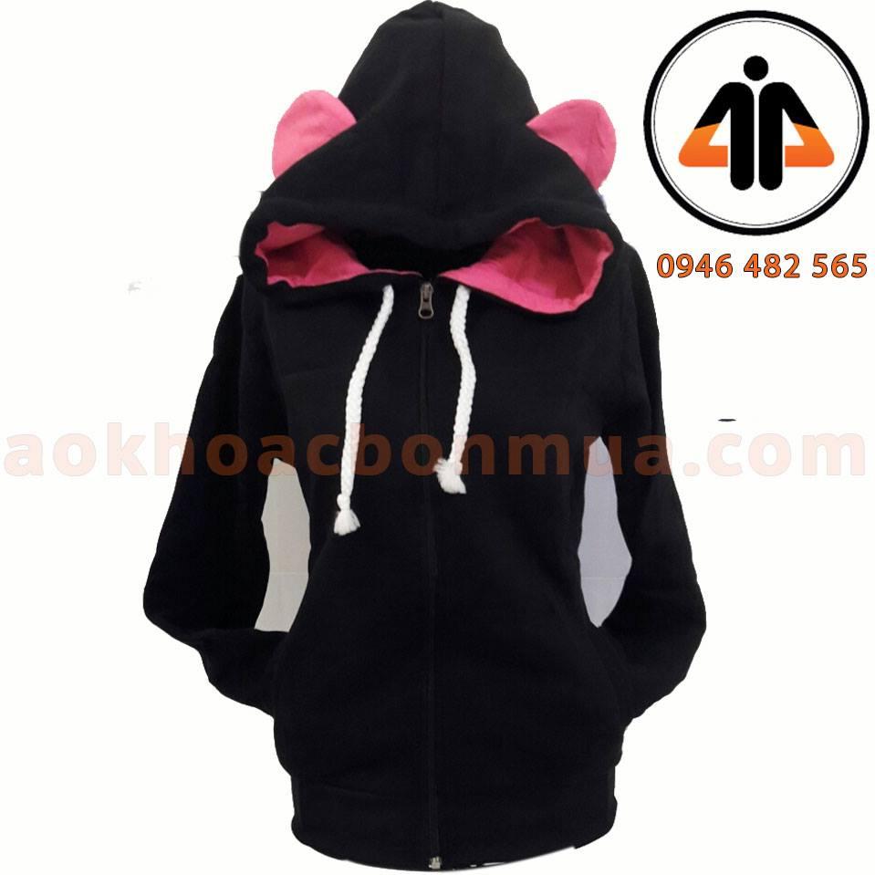 Áo khoác nỉ tai gấu cho nữ – KNTG01