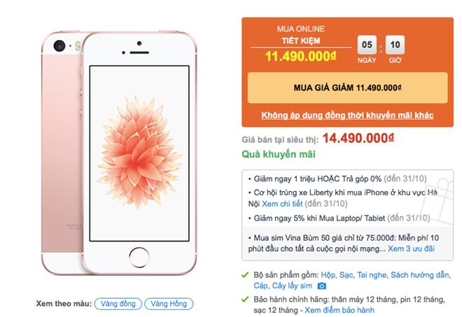 iPhone SE tụt giá 2-3 triệu đồng