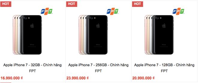 Điện thoại Ip 7 chất lượng bán dưới giá đề xuất hai triệu đồng
