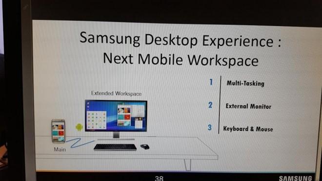 Điện thoại Samsung Galaxy S8 sẽ có chức năng biến hình thành PC