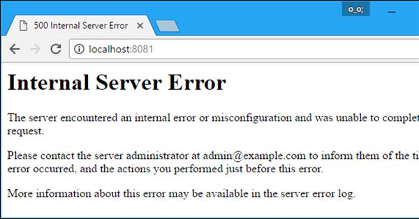 Lướt page thấy lỗi 500 Internal Server Error phải làm thế nào?