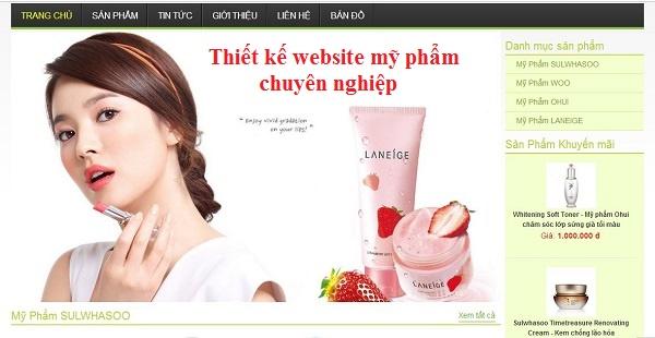 Bí quyết xây dựng website mỹ phẩm chuyên nghiệp