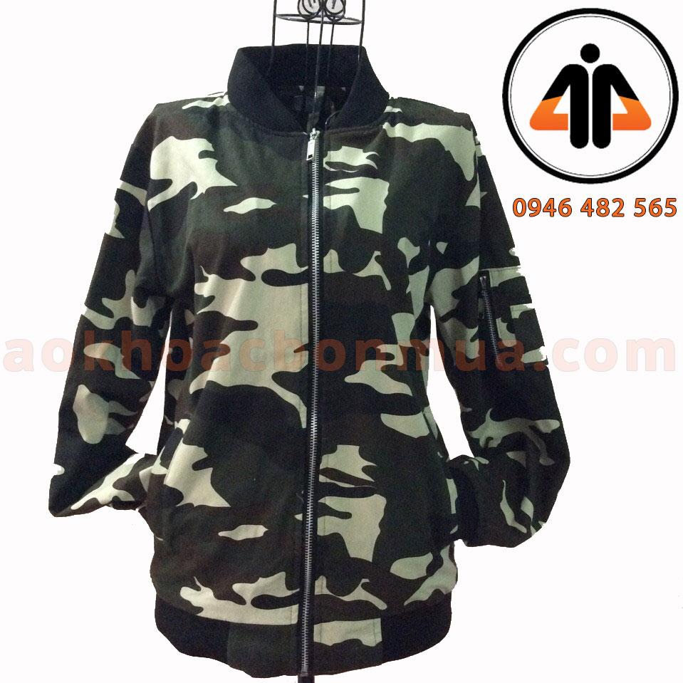 Áo khoác kaki bomber lính nữ – KBL160