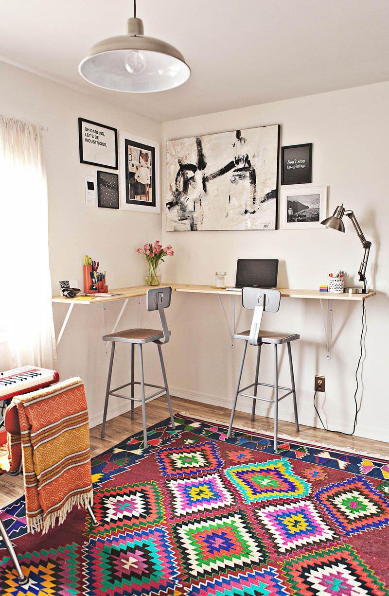 Một số kiểu bàn làm việc đa năng dành cho văn phòng tại gia