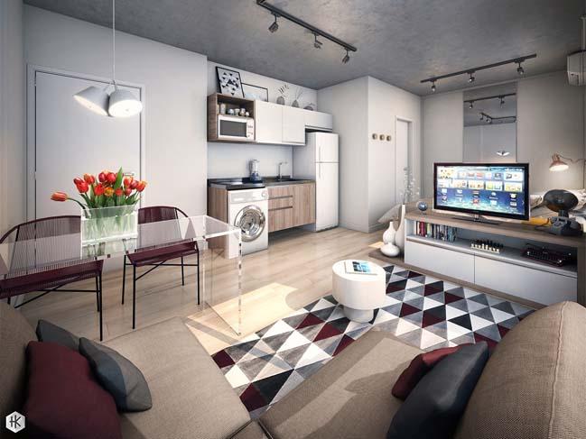 7 kiểu mẫu thiết kế hoàn hảo cho nhà nhỏ đẹp dưới 33m2 (Phần 2)