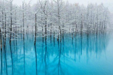 Hồ nước ở Nhật nổi tiếng nhờ được làm màn hình desktop