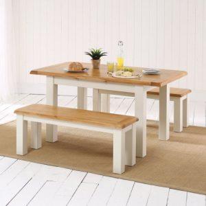 Những bộ bàn ăn gỗ mang phong cách Rustic