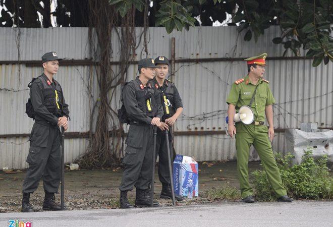 Đông đảo cảnh sát cơ động sẽ tham gia bảo vệ an toàn Hội nghị Mỹ – Triều