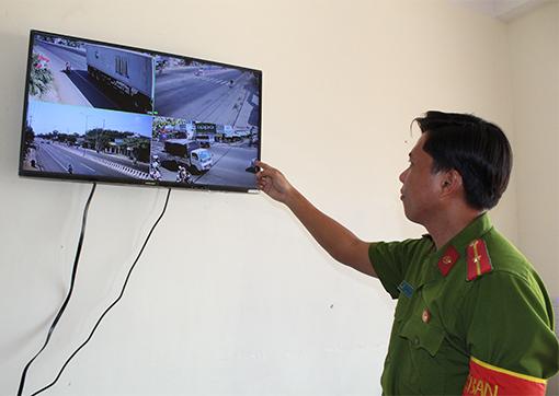 Hệ thống camera an ninh góp phần bảo vệ an ninh trật tự ở địa bàn giáp ranh