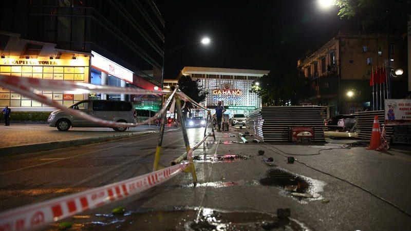 Hà Nội: Rào chắn đường Trần Hưng Đạo để xây đắp nhà ga ngầm S12