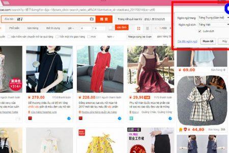 Phương pháp đặt hàng trên Taobao bằng tiếng Việt