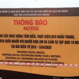 Ven biển Đà Nẵng bị rào barier 1 km, các dịch vụ ngừng hoạt động hàng loạt để phòng dịch Covid-19