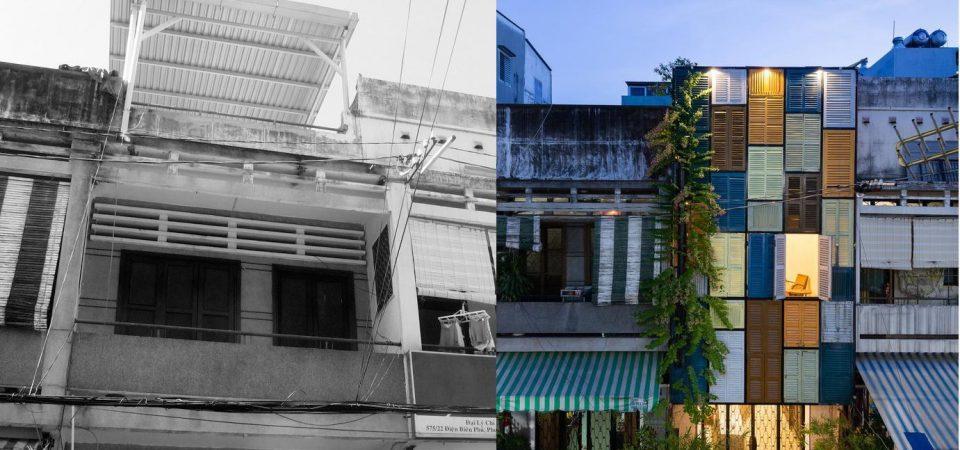 Ngôi nhà cũ kỹ được hoàn thiện thành nơi sống lý tưởng nhờ sử dụng cửa sổ cũ kĩ